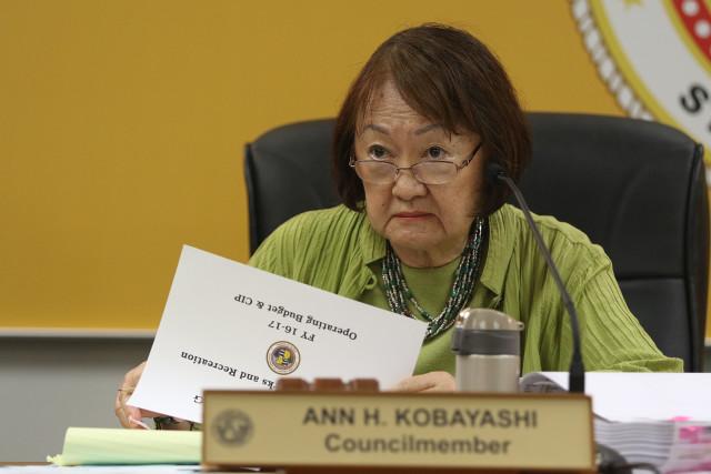 Honolulu City Council Finance Chair Ann Kobayashi2