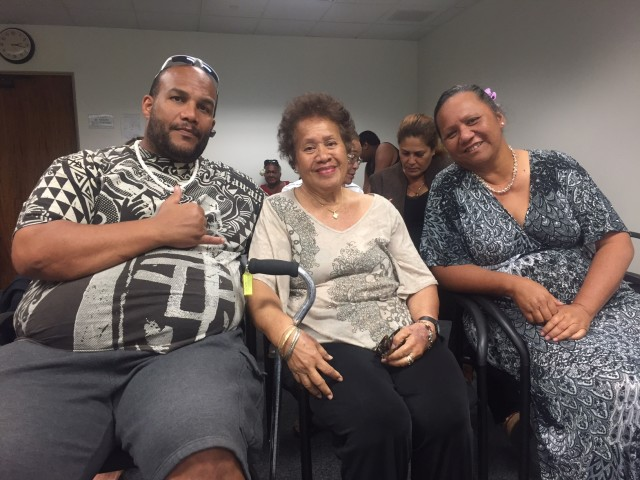 De Mont Conner and his mother Ina and wife Momi want funding for Hawaiian Home Lands increased significantly.