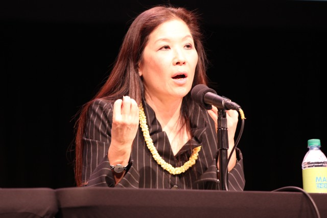 Hawaii Public Utilities Commissioner Lorraine Akiba speaks during the conference.