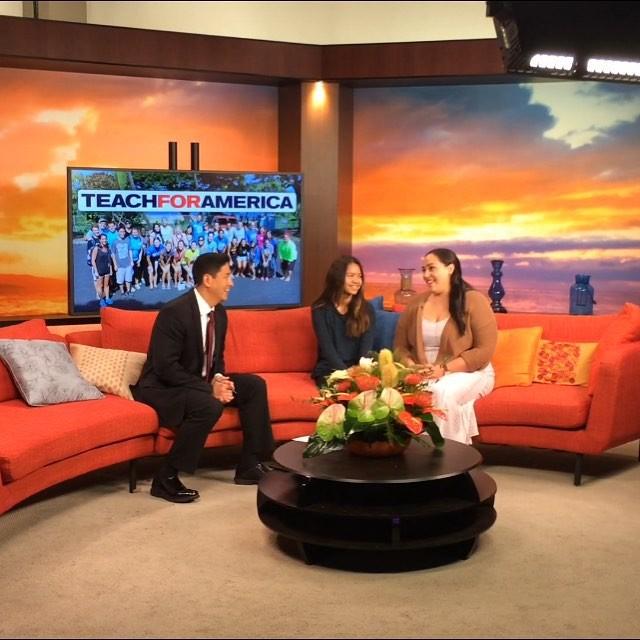 Piikea Kalakau appeared on Hawaii News Now to discuss the Teach For America program.