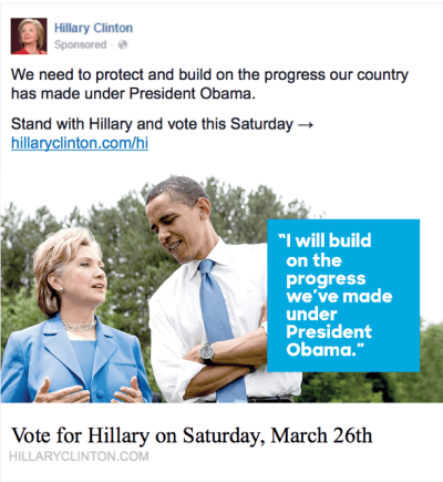 The Clinton campaign has rolled out social media advertising in advance of Hawaii's Democratic Party Presidential Preference Poll this Saturday.