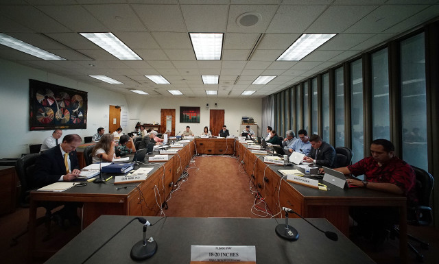 House Finance Committee meeting wide view at the Capitol, Room 308. 5 april 2015.