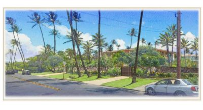 This artist rendering shows what Alexander & Baldwin's proposed condo development on Kahala Avenue would look like from the street.