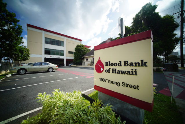 Blood Bank of Hawaii 1907 Young St. 26 may 2016.