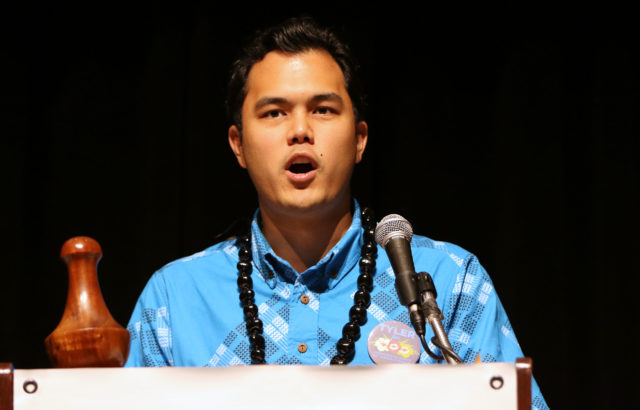 Dem Chair Candidate Tyler Dos Santos-Tam. 29 may 2016.