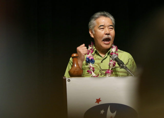 Governor David Ige Democratic Convention held at the Sheraton Hotel. 28 may 2016.