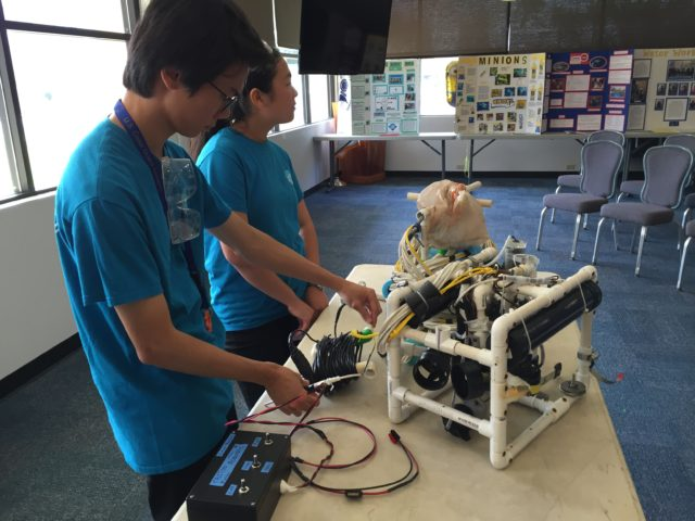 Team Triton Robotics, from Pearl City High School, won the Ranger level ROV competition at the Oahu Regional Competition.