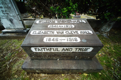William Wisner Hall graveyard headstone at the Oahu Cemetery. 18 may 2016.