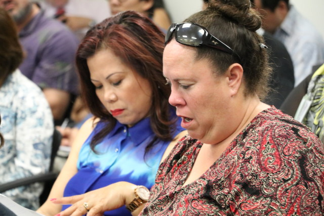 Care home owner Lilia Fajotina, left, and Wannette Gaylord, president of the Alliance of Residential Care Administrators, tracked the unannounced-inspections bill throughout the session.
