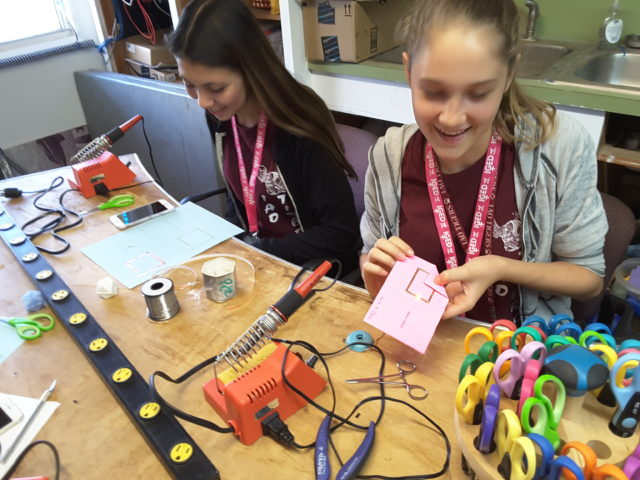 """Kauai Makers recently hosted an """"Introduce a Girl to Engineering"""" workshop focused on surface mount soldering."""