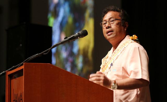 Coral Symposium Palau President Tommy Remengesau. 20 june 2016