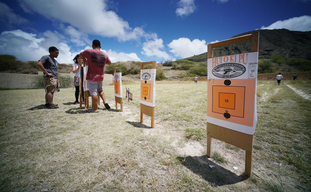 HRA Gun Koko Head Range Shooting Sports Fair rifle range target. 19 june 2016