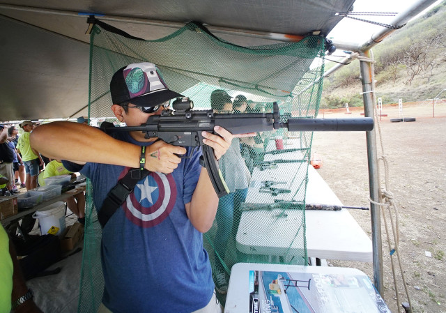Hawaii Rifle Association's 23rd Annual Shooting Sports Fair held at the Koko Head Shooting Complex. 19 june 2016