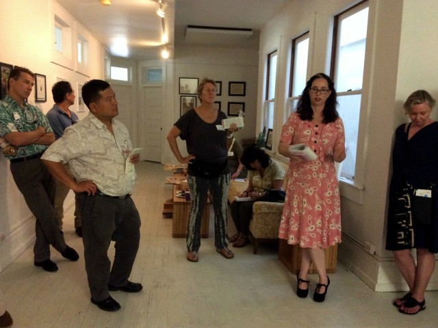 Historic Hawaii Foundation tour Thursday on third floor of 9 N. Pauhi, a former boarding house whose rooms Tita Stack remodeled into small offices.