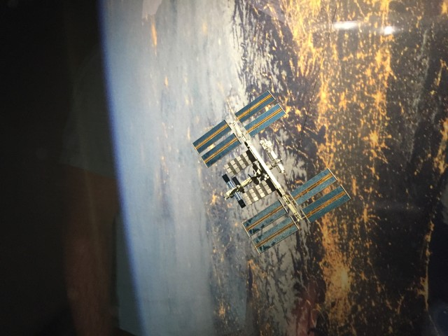 The Bishop Museum used a 3D printer to create this miniature replica of the International Space Station.