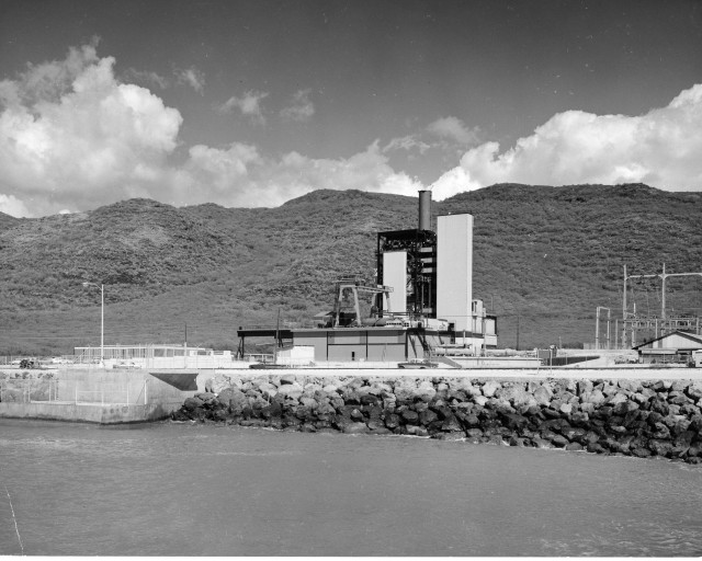 The first unit at the Kahe Power Plant on East Oahu was nearly finished when this photo was taken in March of 1963.