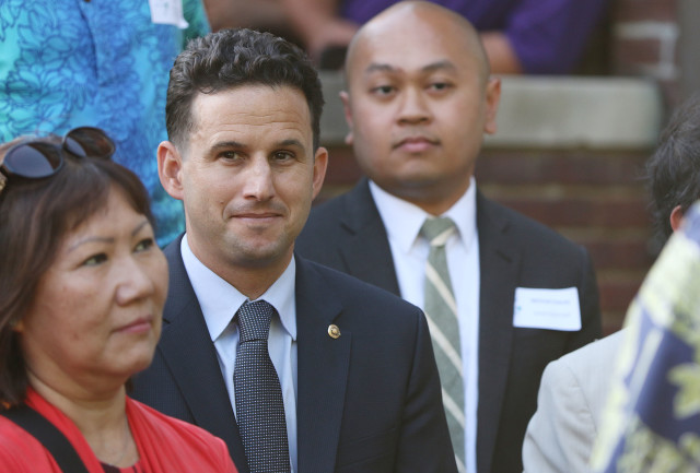 Sen Brian Schatz popped into the Woodrow Wilson House for the kickoff of the Hawaii on the Hill event. 7 june 2016.