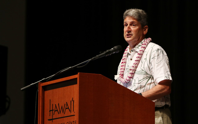 UH Hawaii President David Lassner Coral Reef Symposium2. 20 june 2016