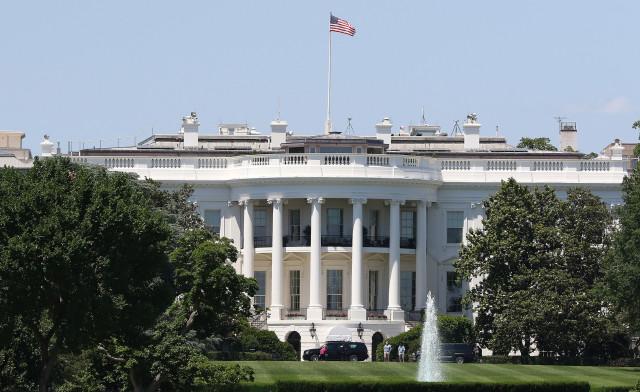 White House Washington DC closeup. 9 june 2016.