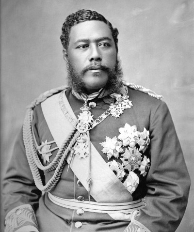 Hawaiian King David Kalakaua was a world traveler who brought many innovations and new ideas to the islands, including electric lights at Iolani Palace.