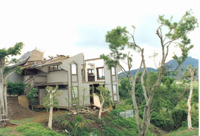 Hurricane Iniki hit the islands hard in 1992. It also bankrupted Hawaiian Insurance Group, a subsidiary of HEI.