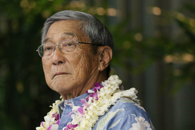 Hawaii Island Mayor forum Harry Kim portrait. 14 july 2016