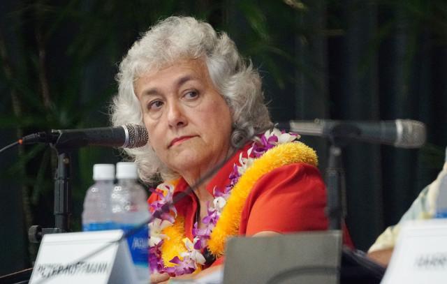Hawaii island Mayoral Forum Marlene Hapai at Sangha Hall. Hilo, Hawaii. 14 july 2016