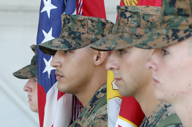 Marine Corps Base Hawaii Color Guard. 19 july 2016