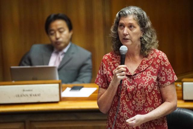 Sen Laura Thielen rises in opposition to bill. 20 july 2016