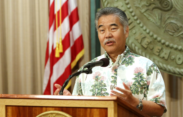 Governor David Ige presser announcing a deal with the United Public Worker union at Maui Hospitals. 12 aug 2016