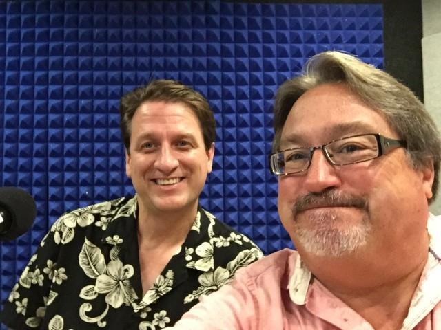 Brett Oppegaard and Chad Blair take a selfie.