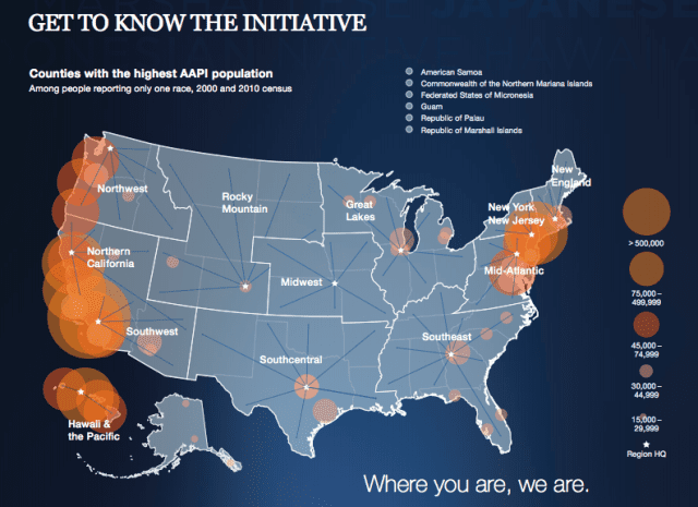 The highest concentrations of Asian-American and Pacific Island (AAPI) residents are in the West and Northeast.