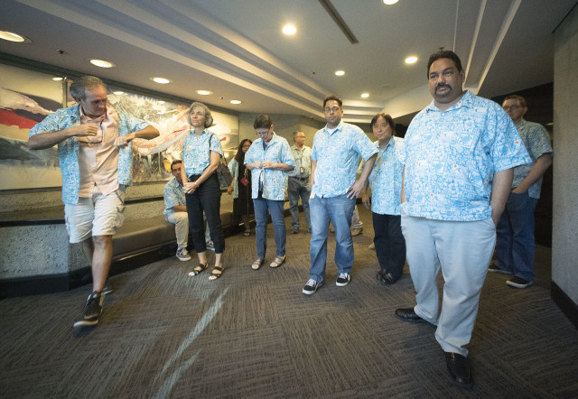Star Advertiser staff Guild Aloha Shirts. 16 aug 2016