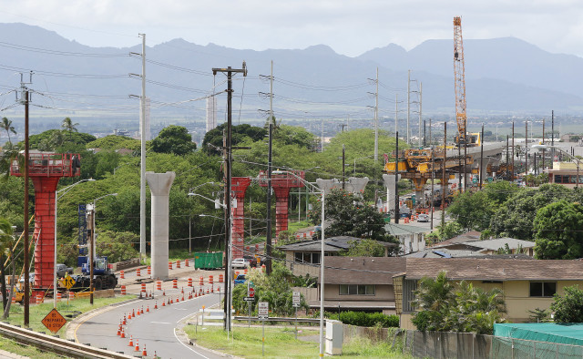 HART rail supports Aiea near Stadium1. 20 sept 2016