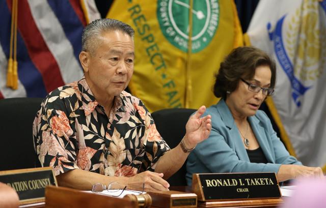 HPD Commission Chair Ronald Taketa. 7 sept 2016