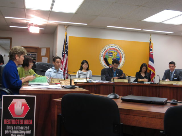 The city council committee on executive affairs and legal matters met on Sept. 20 to discuss Resolution 16-213, which would allow the city to acquire eight privately-owned Kakaako roads.