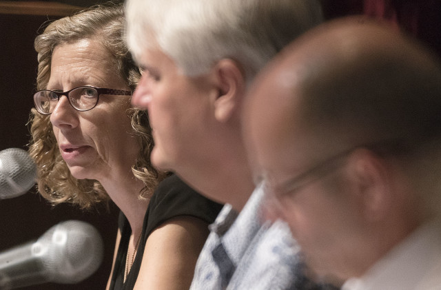 IUCN Director General Inger Andersen during press conference. 5 sept 2016