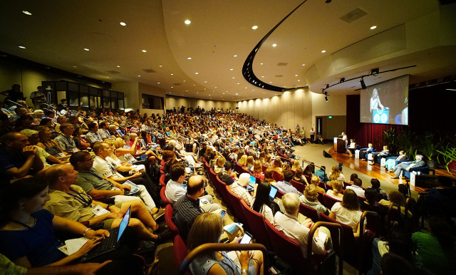 IUCN room 310 Sylvia Carle panel full house at the Hawaii Convention Center. 4 sept 2016