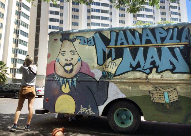 Kalihi Manapua man truck Kuhio Park Terrace. 24 sept 2016