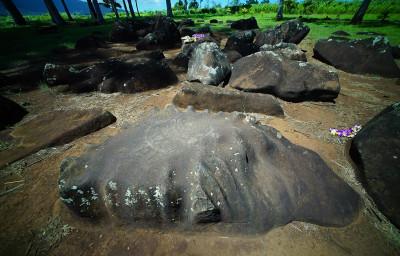 Kukaniloko Birthing Stones, birthplace of Hawaiian royalty located in Wahiawa. 20 sept 2016