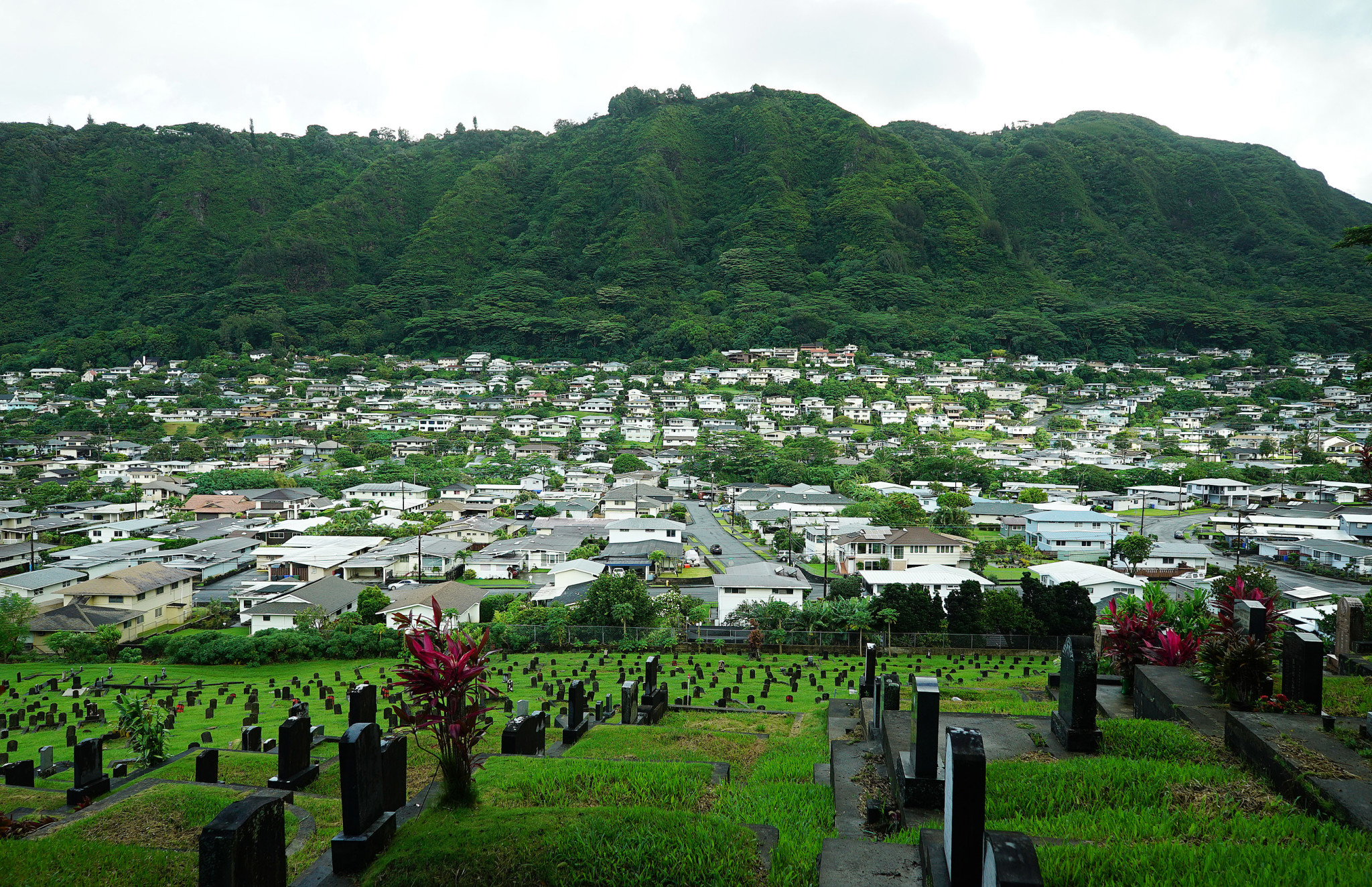Manoa Valley Chinese Cemetery homes. 9 sept 2016