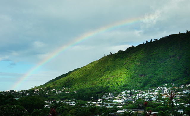 Manoa Valley rainbow. 9 sept 2016