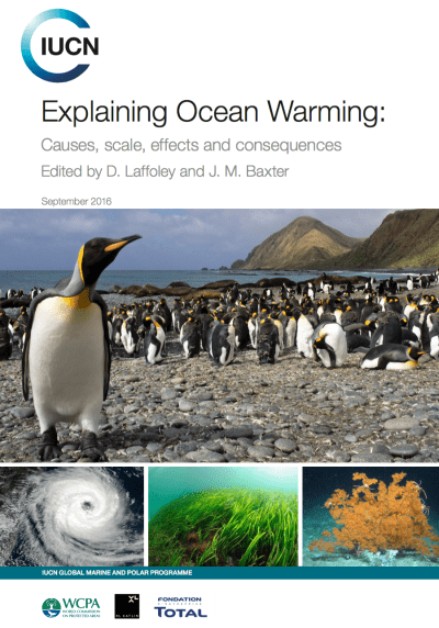 IUCN report cover on ocean warming Sept 2016
