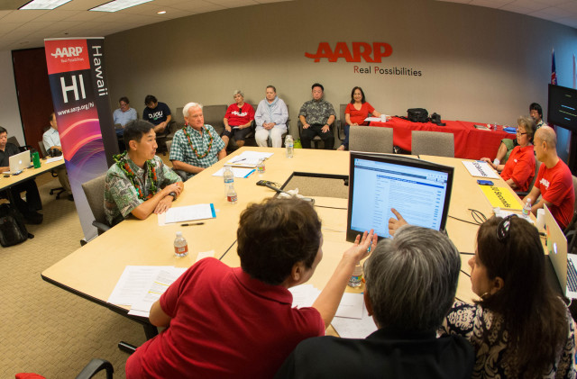 AARP organizers take questions from Oahu residents for the Honolulu mayoral candidates.