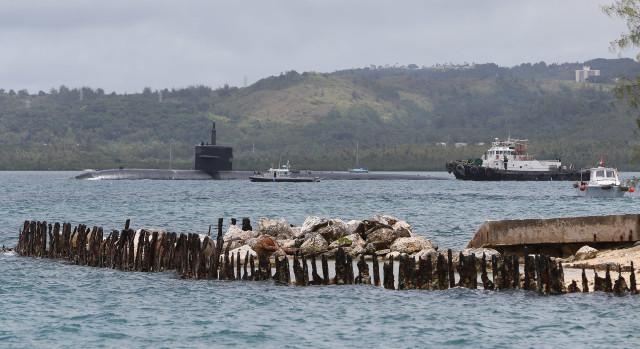 US Navy Base Naval Base Guam submarine Marianas2. 23 aug 2016