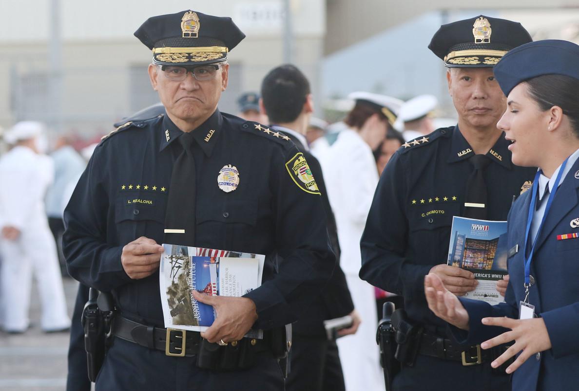 HPD Chief Louis Kealoha 75th Pearl Harbor. 7 dec 2016