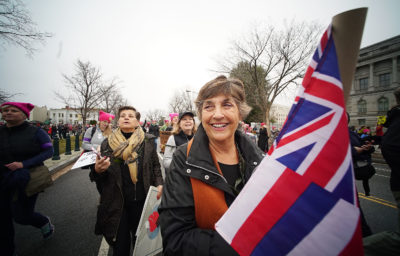 Donna Howard Hawaii marchers 2017 Womens March Washington DC. 21 jan 2017