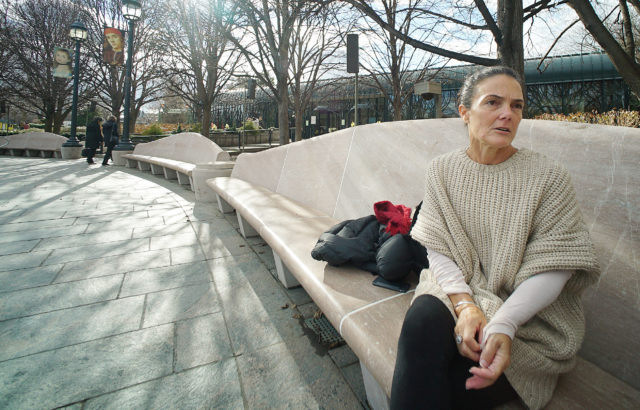 Hawaii resident Amy Perruso from Diamond Head. Interviewed by Kirstin at the sculpture garden DC. 18 jan 2017. photograph Cory Lum/Civil Beat