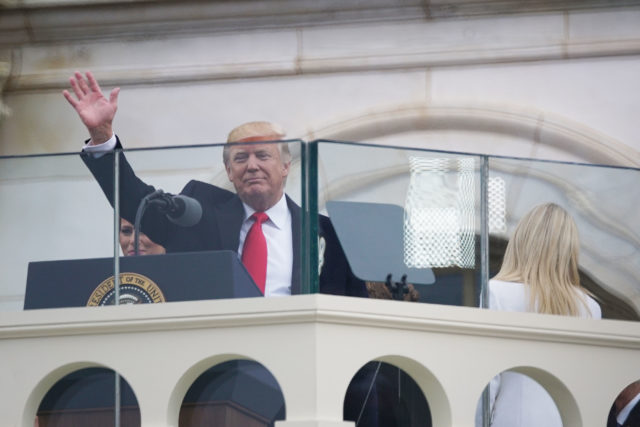 President Donald Trump thru glass2. 20 jan 2017