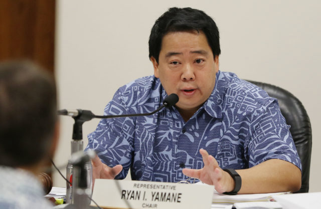 Chair Water and Land Rep Ryan Yamane. 3 feb 2017